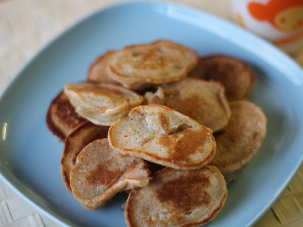 Baby Banana Coconut Pancakes