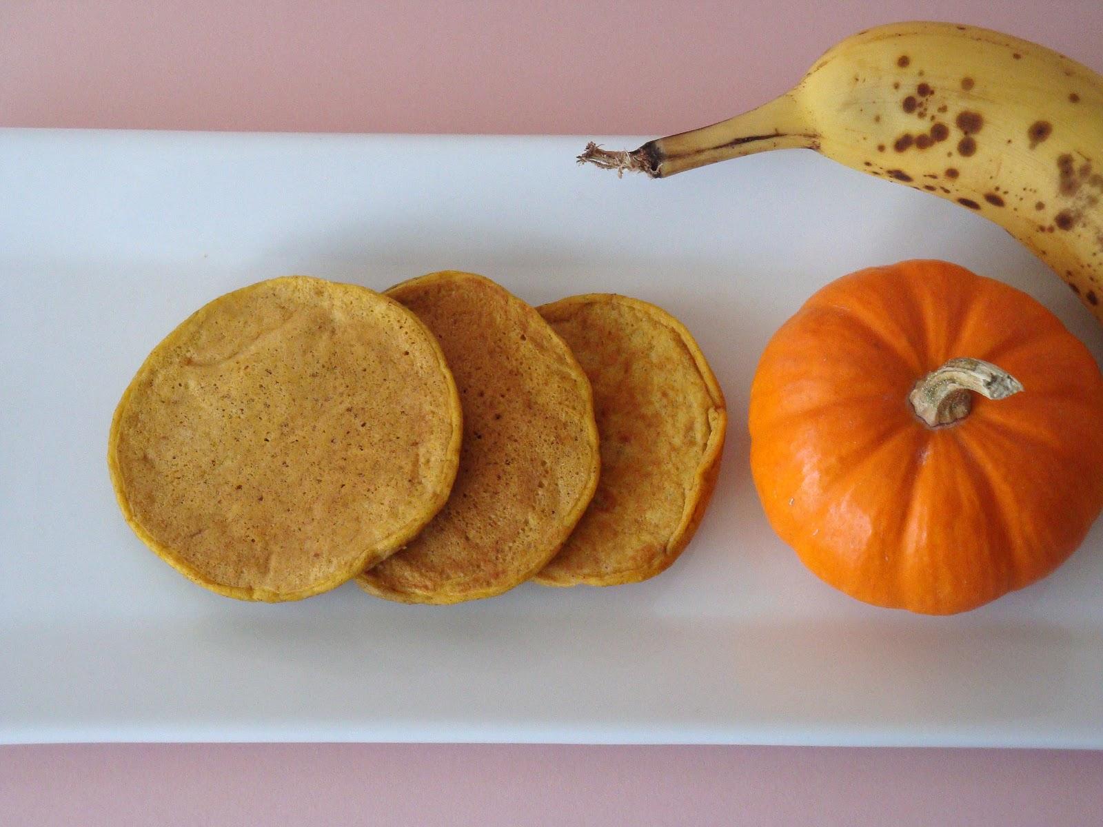 Baby Pumpkin Coconut Pancakes