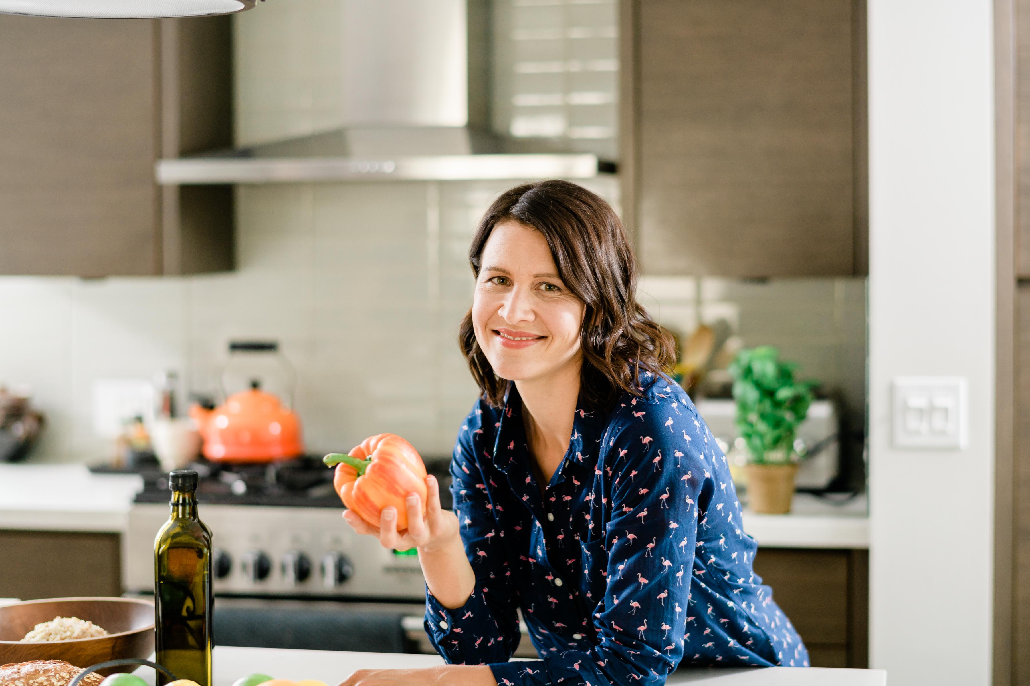 Kate holding pepper